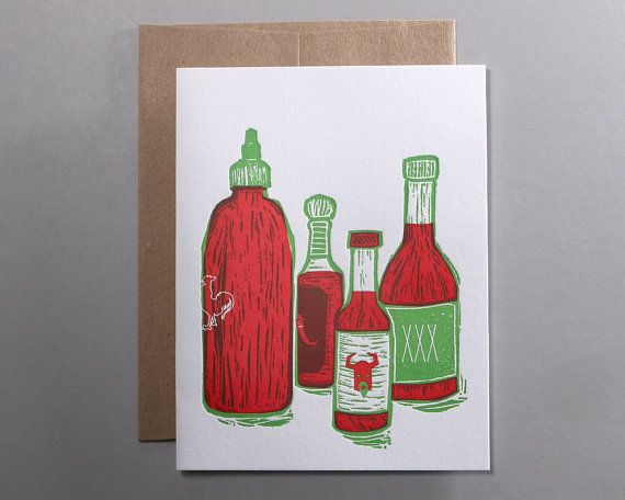 You Spice Up My Life, letterpress Valentine's Card by Rise and Shine Letterpress