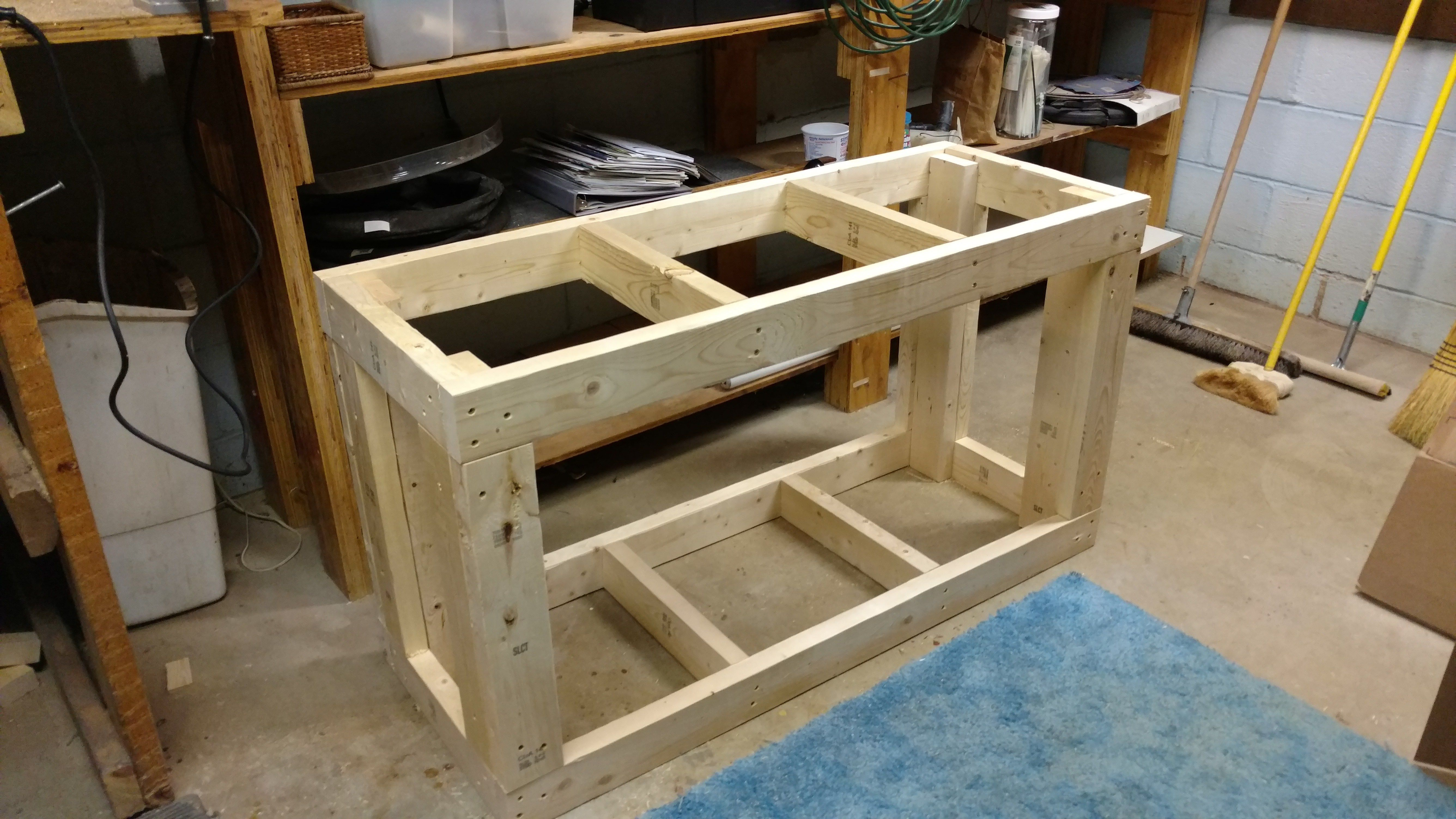 Aquarium fish tank stand homemade diy 2x4 fish tank