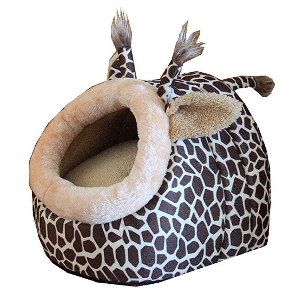 Easylifer Christmas Cute Animal Deer Shape Cat Bed Cave
