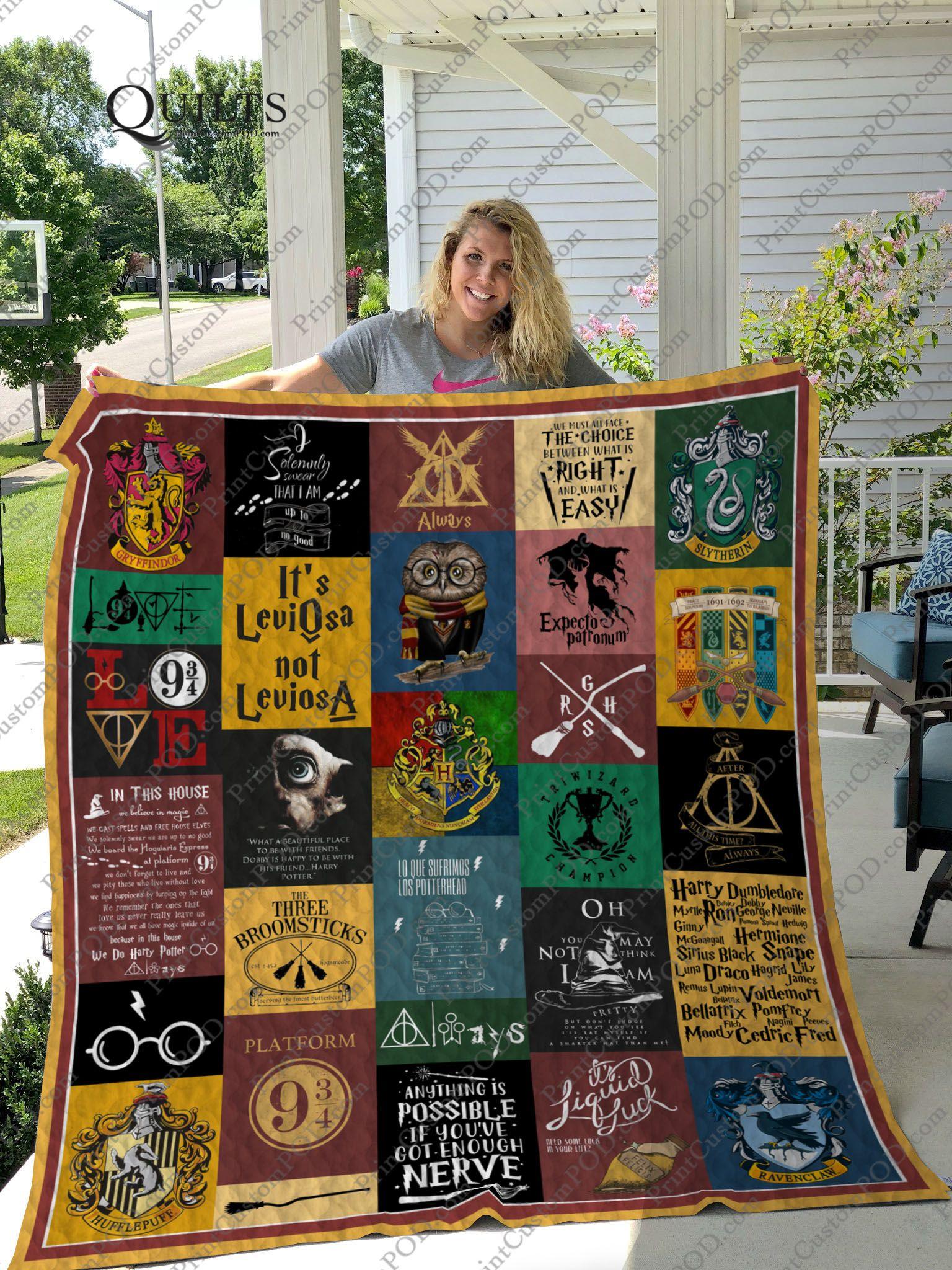 always Quilt Blanket Fleece Blanket after this time Harry Potter