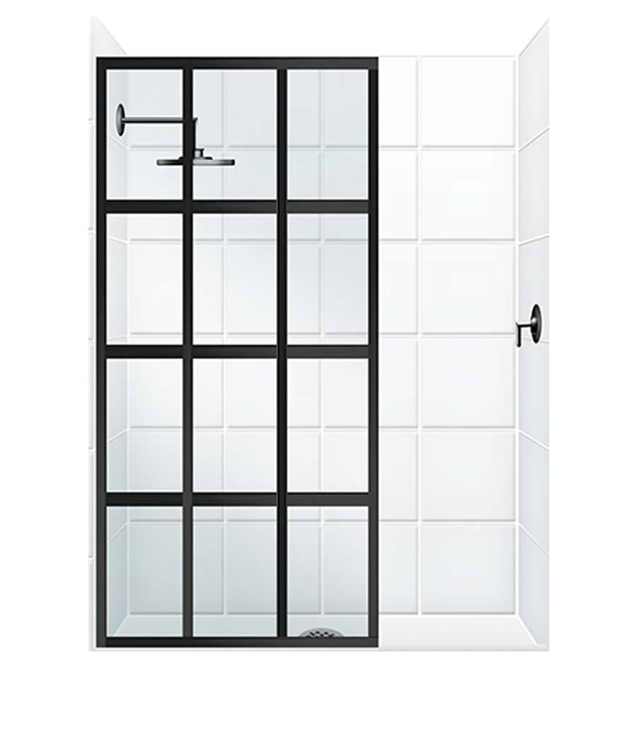 Fixed Panel With Or Without Slider Coastal Shower Doors