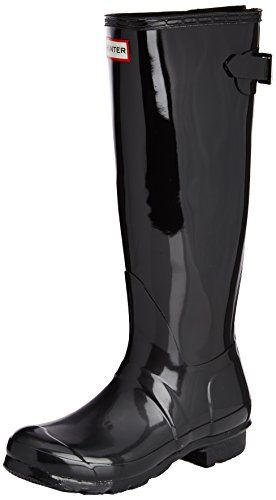Hunter Womens Original Back Adjustable Gloss Black Rain B.
