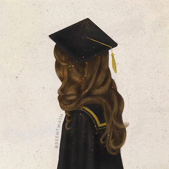 Instagram Photo By Reemtwaim Reem Via Iconosquare Graduation Art Sarra Art Graduation Drawing
