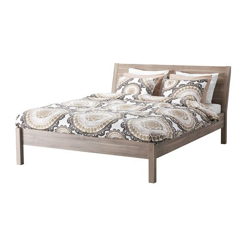 nyvoll bed frame light gray king ikea home. Black Bedroom Furniture Sets. Home Design Ideas