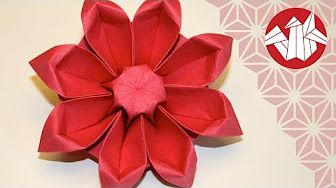 How To Make Origami Lily Crepe Paper Flower Easy and fast step by ... | 188x336