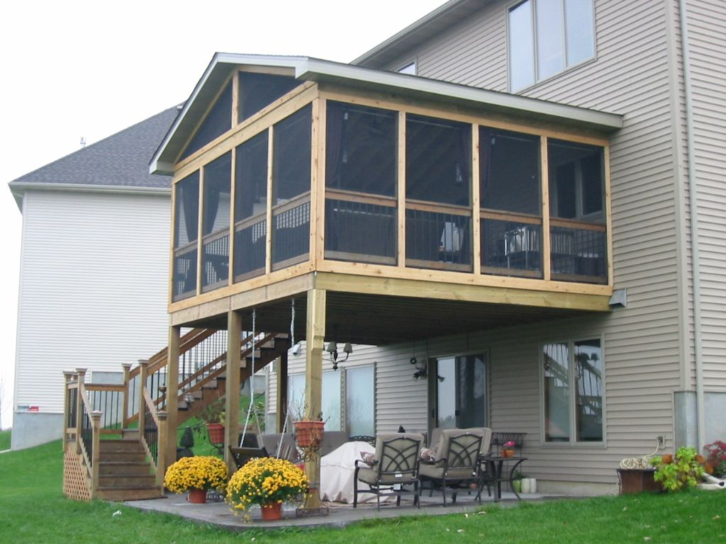 Screened porch or deck 5 important considerations in for Cost to build a house in mn