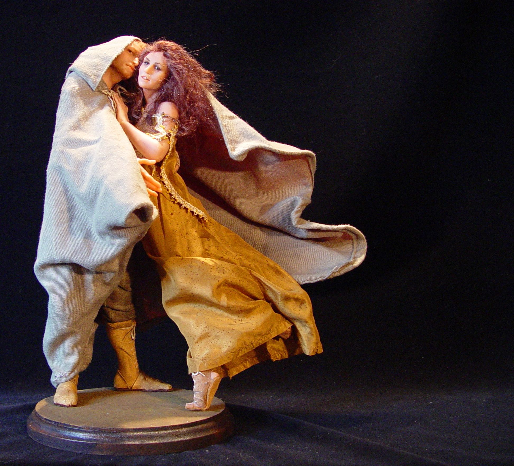 Human Figures in Clay by Mark Dennis OOAK Polymer Clay