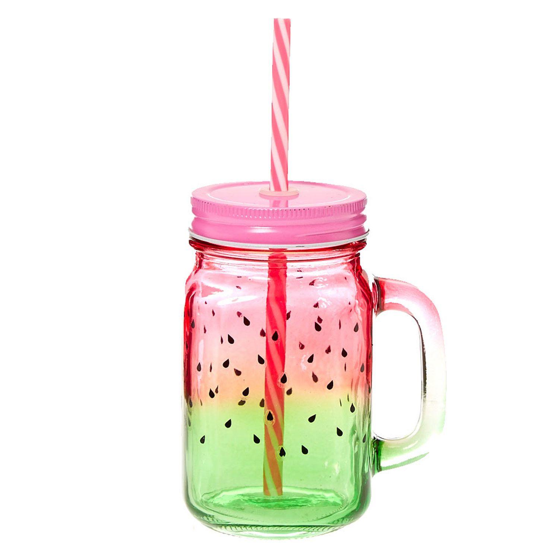 watermelon mason jar glass - Mason Jar Glasses