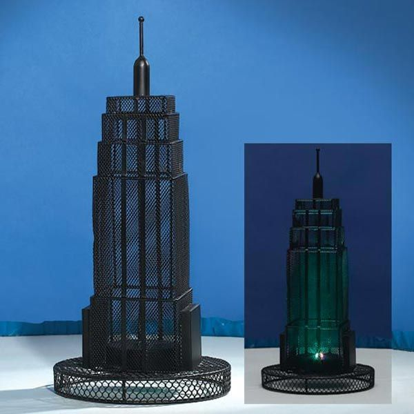 15 inch Empire State Building Wire Centerpiece Set of 2
