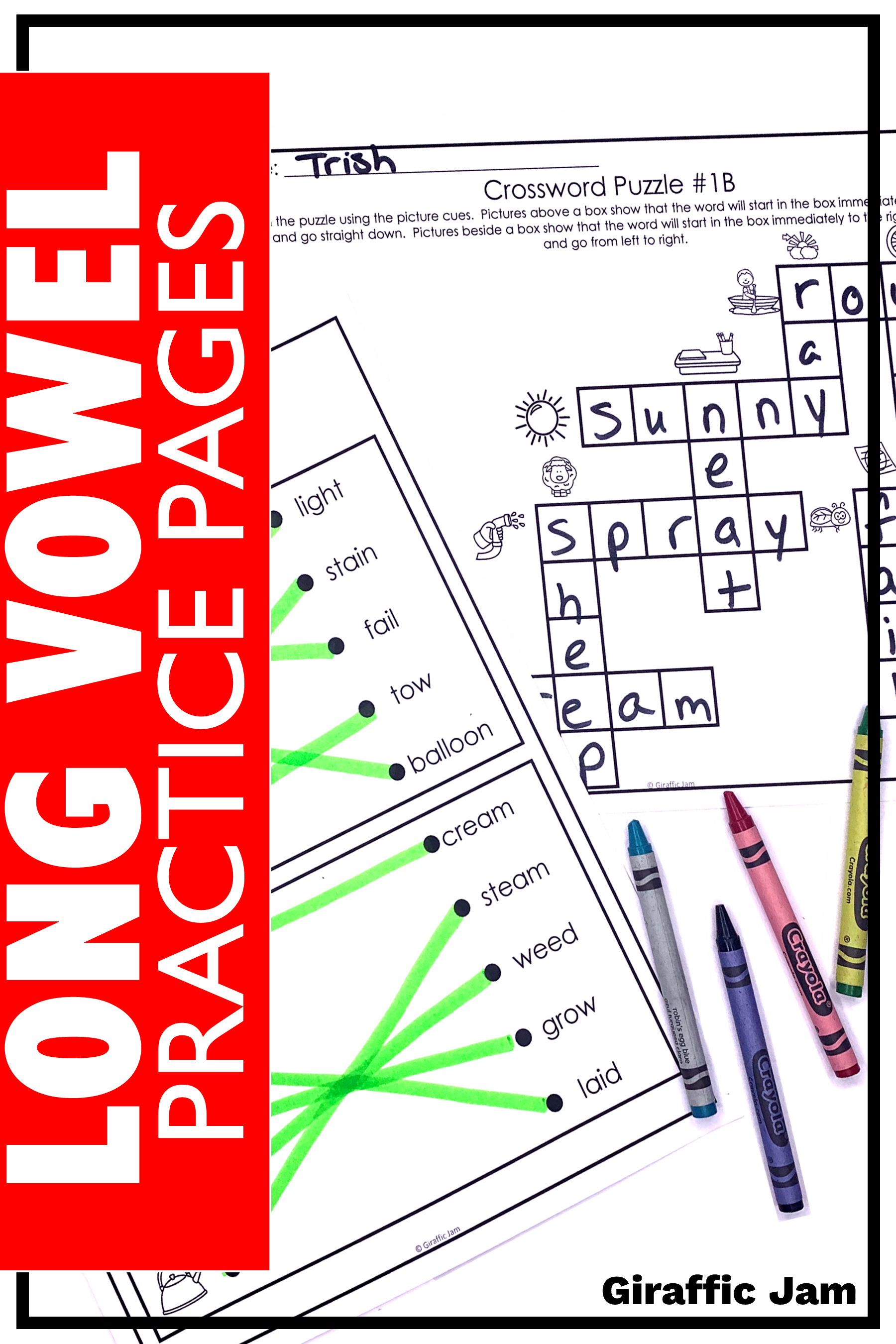 These Printable Long Vowel Worksheets Are Perfect For