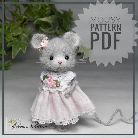 Crochet Mouse Pattern amigurumi toy miniature