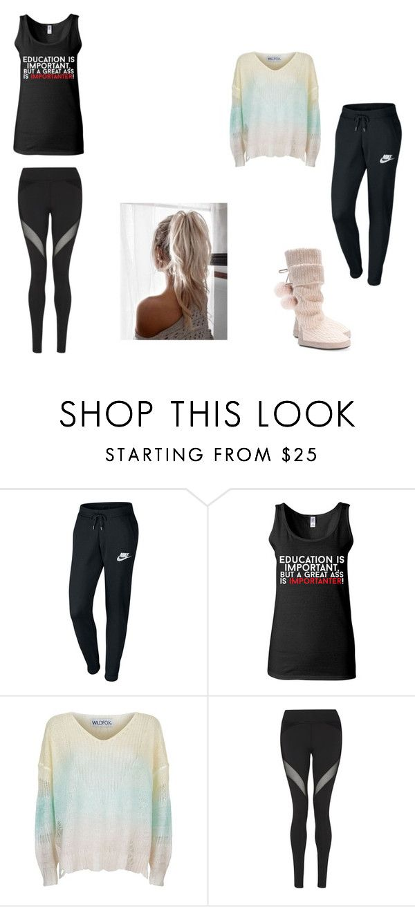 """""""work out comfy"""" by bluelover1803 on Polyvore featuring NIKE, Wildfox and Michi"""