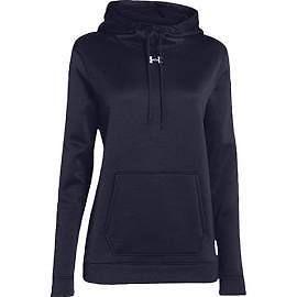 Hoodies and Sweatshirts 59325: Under Armour Womens Ua Storm Armour Fleece Hoodie Medium Midnight Navy BUY IT NOW ONLY: $59.98