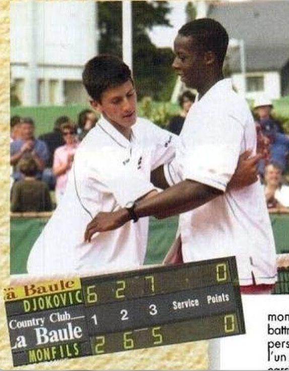 Gael Monfils And Novak Djokovic Novak Djokovic Gael Monfils Tennis Players