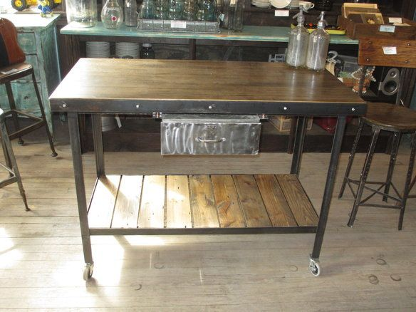 industrial table cfresearch bench brick kitchen island co ideas islands