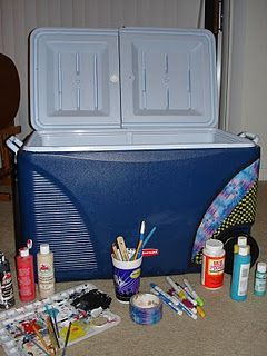 Cooler painting guide. This should come in handy when Hanna and I make coolers for ourselves because we have no other reasons to make them. Haha