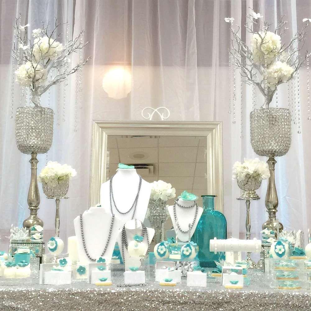 Tiffany & Co. Quinceañera Party Ideas   Tiffany party, Bridal ...