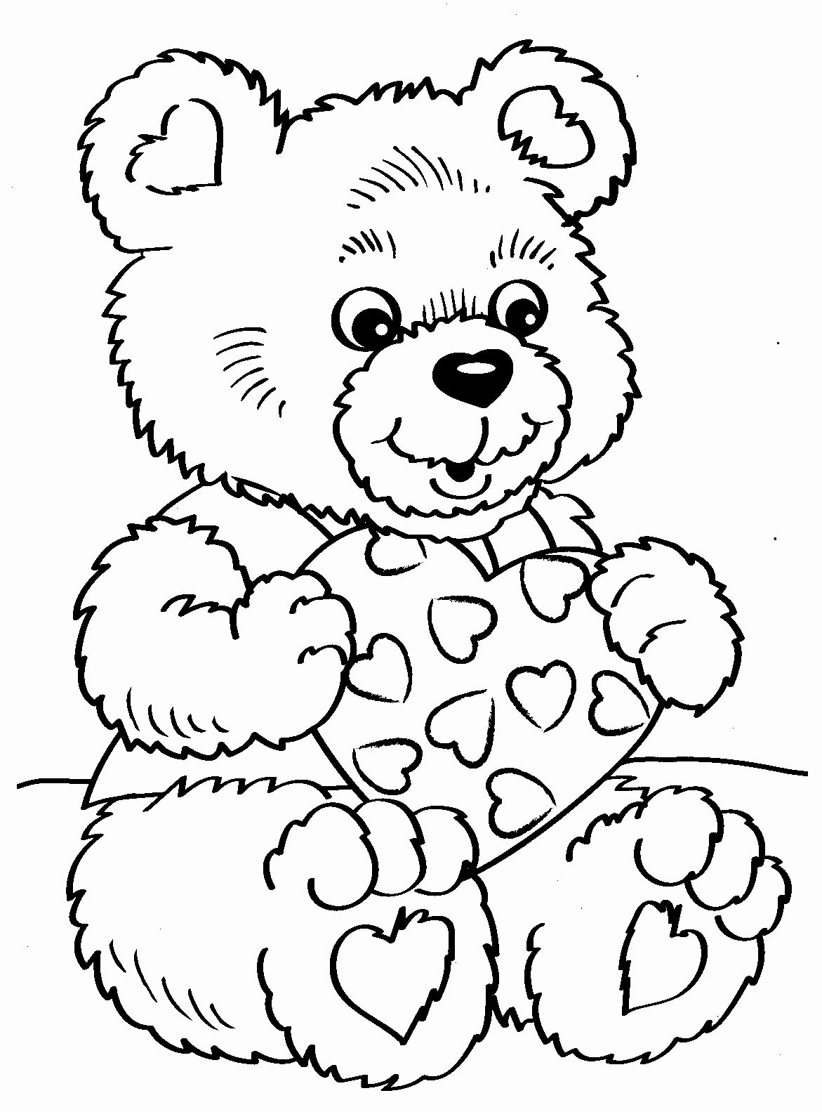 Valentine Bear Coloring Pages Best Of Valentine Coloring