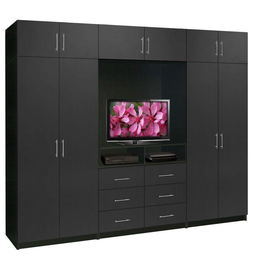 surprising bedroom designs tv wardrobe | Aventa TV Wardrobe Wall Unit X-Tall - Bedroom TV Furniture ...