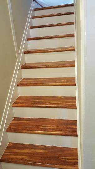 Cap A Tread Hawaiian Curly Koa 47 In Long X 12 1 8 In Deep X 1 | Poplar Stair Treads Home Depot | Hardwood | Baluster | Hand Rail | Wood | Risers