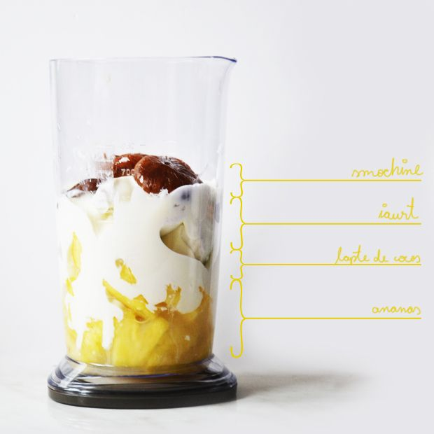 Sunday Smoothie: ananas & cocos & smochine/pineapple & coconut & figs - Mmmmmmmmmm how to !