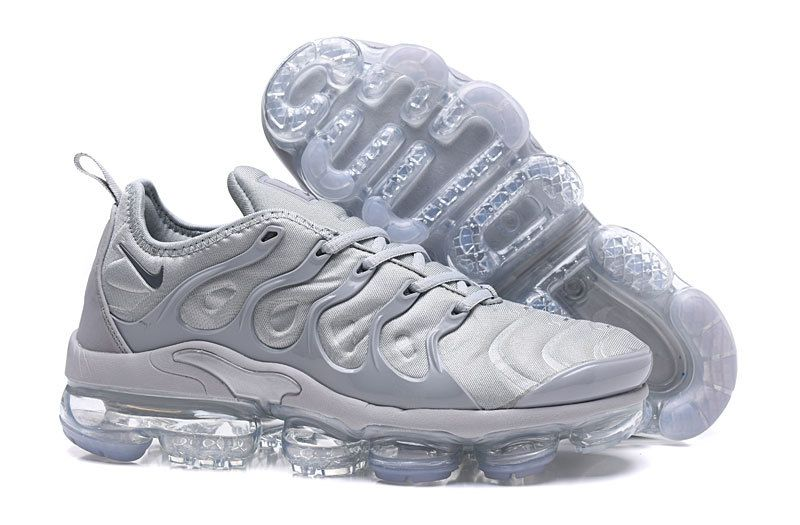 ddc9352a007 2018 Genuine Men Nike Air VaporMax Plus 2018 TN Silver Grey