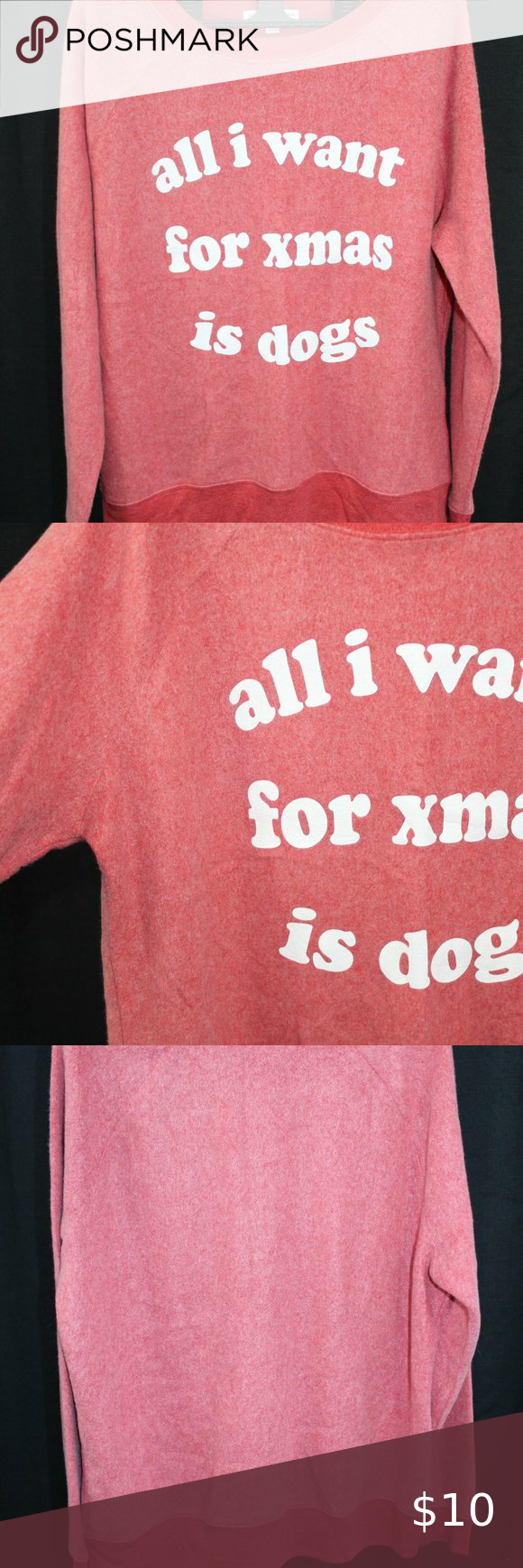 Winter Pajama Set All I Want For Xmas Is Dogs Super Soft Red Pajama Set Long Sleeve Shirt And Shorts Original In 2020 Pajama Set Winter Pajamas Long Sleeve Shirts
