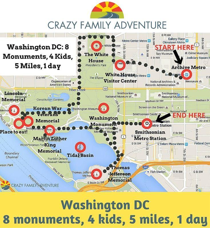 Ein Tag mit Ihrer Familie nach Washington DC zu reisen, kann eine Menge Spaß machen ... -