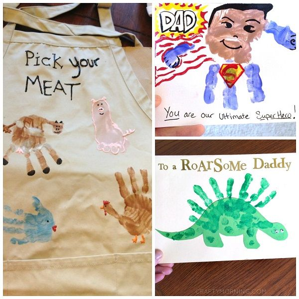 Fathers Day Kids Craft Ideas Part - 35: Here Are Some Creative Fatheru0027s Day Handprint Gift And Craft Ideas That Kids  Can Make!