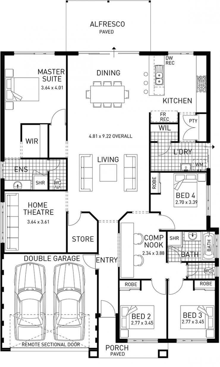 newtown  single storey home design foundation floor plan
