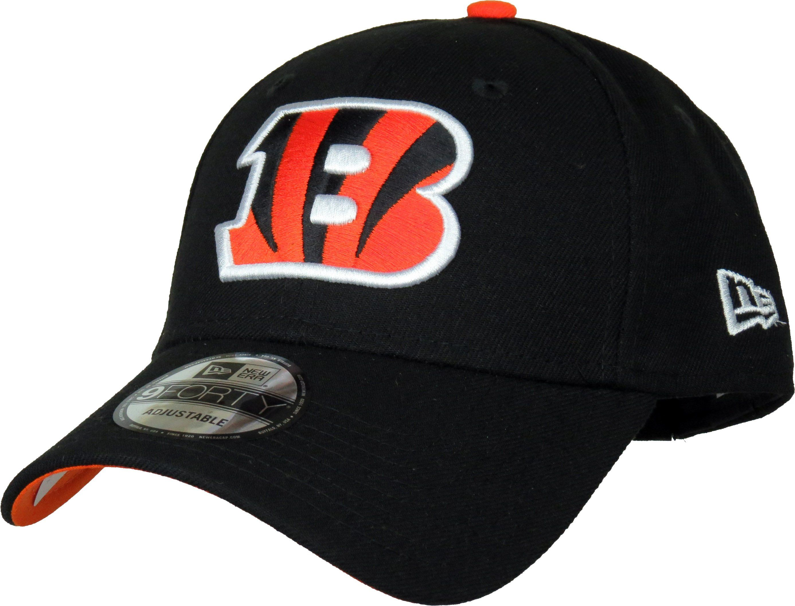 New Era 9Forty NFL The League Adjustable Team Cap. Black with the  Cincinnati Bengals front 8f2463210b9c