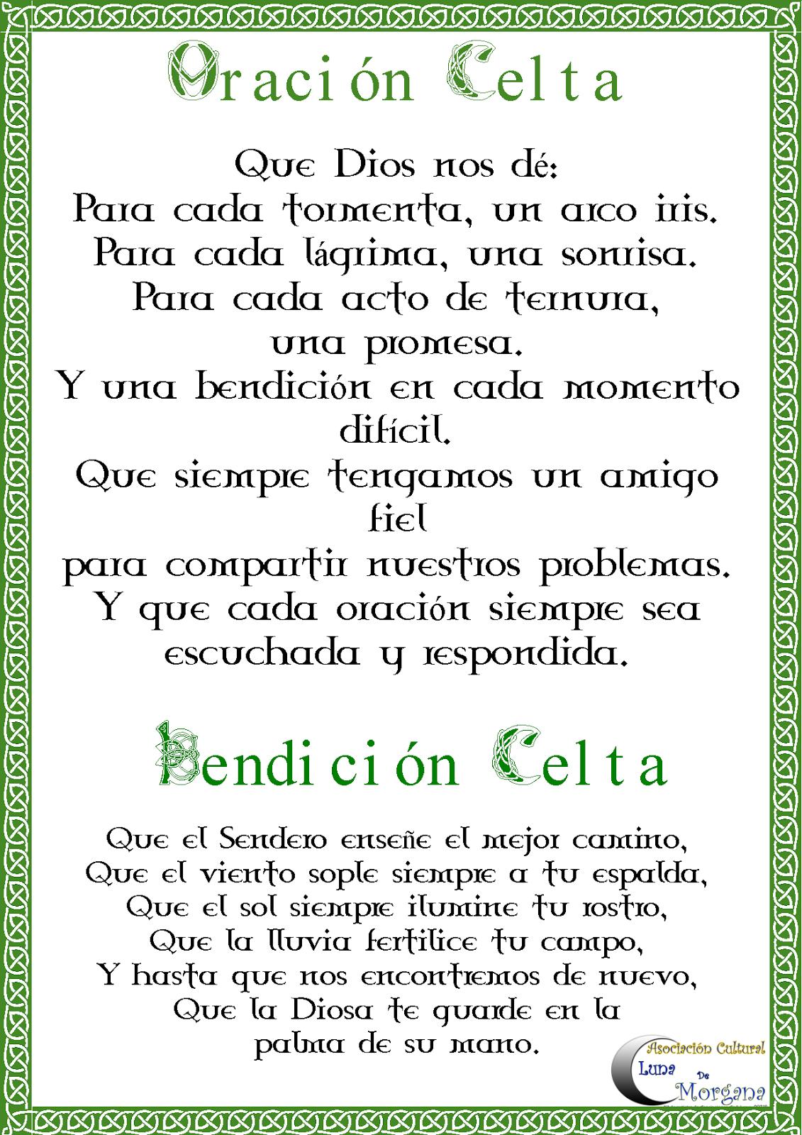 Bendicion Celta Oraciones Libro De Las Sombras Y Celta