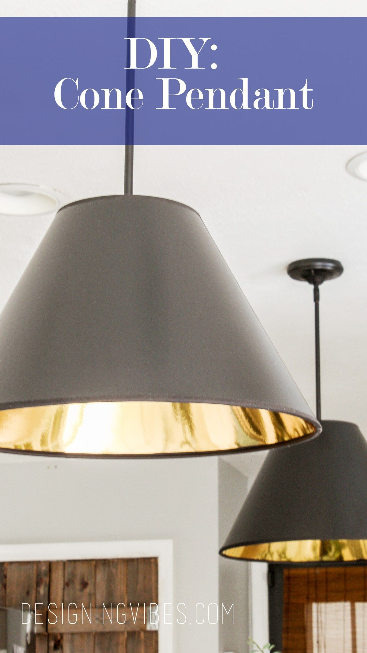 Diy Cone Pendant Lights Cheap And Easy To Make Pendant Lamp