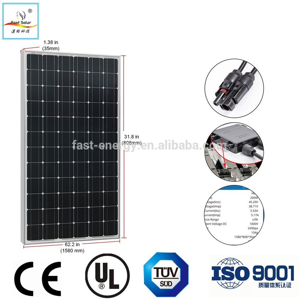 New Design Mono PV module and poly solar panel 100w 150w 200w 250w ...