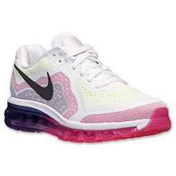 Women's Nike Air Max 2014 Running Shoes  FinishLine.com   White/Black/Vivid Pink/Volt Shield