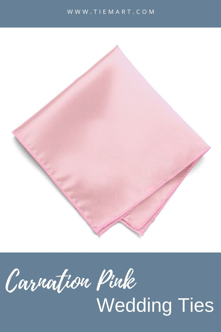 Carnation Pink Solid Color Pocket Square #pocketsquares
