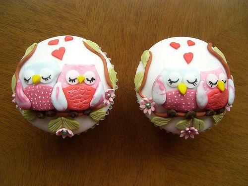 owl cupcakes, so cute