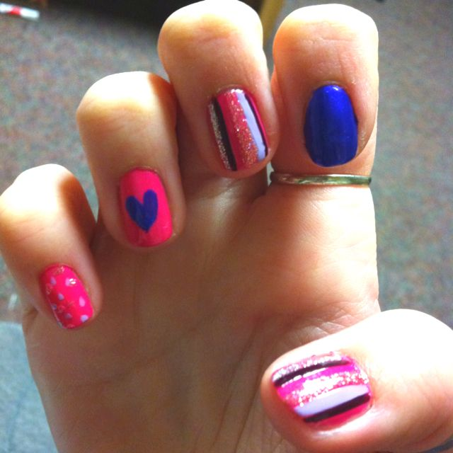 Valentines day nail design!