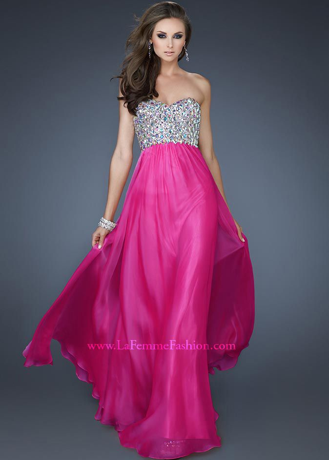 New 2013 La Femme 18686 pink strapless sweetheart dresses in stock ...