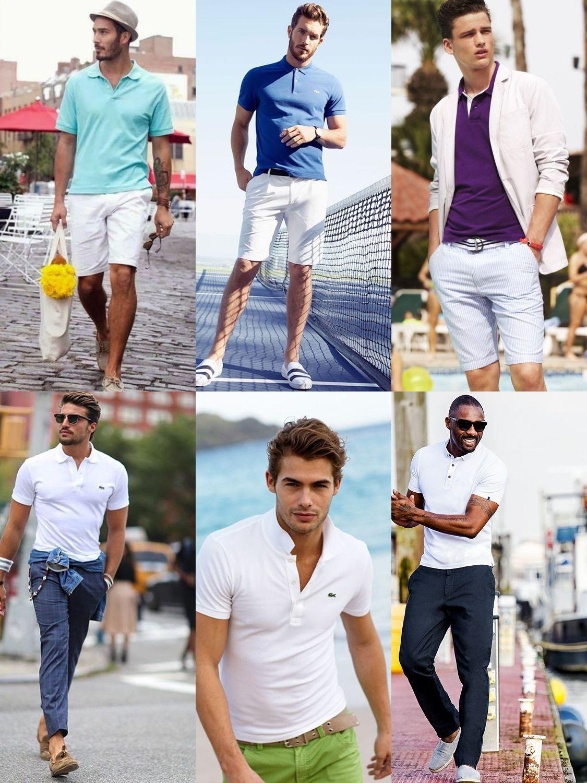 Dicas para usar camisa polo e manter o estilo tradicional clássico em dia.  Look com camisa polo para ficar estiloso. Estilo de camisa polo despojado 194952ba506dc