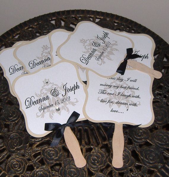 wedding programs on fans examples - Google Search | Wedding