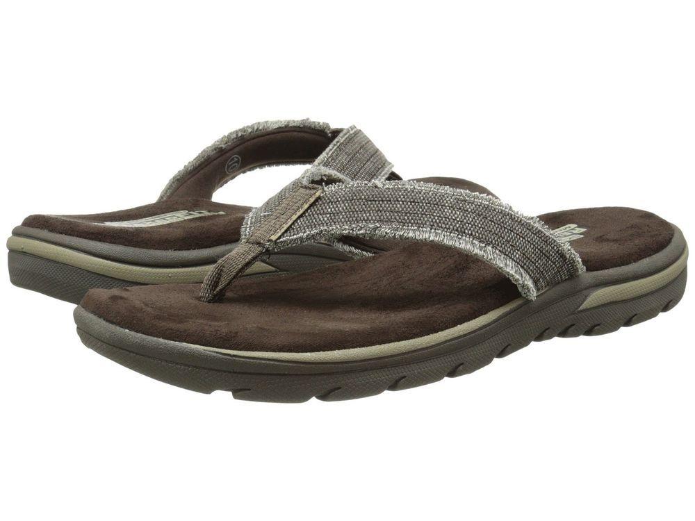 9aed3e37adec Skechers Men s Evented Arven Flip Flop Sandals size 8 9 10 11 NEW https