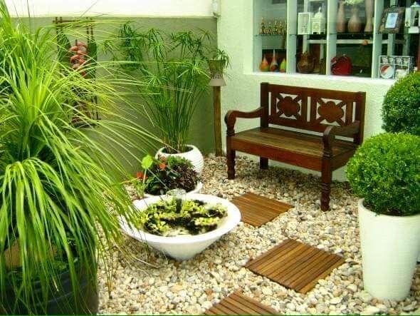 jardines pequeos con piedras - Jardines Pequeos
