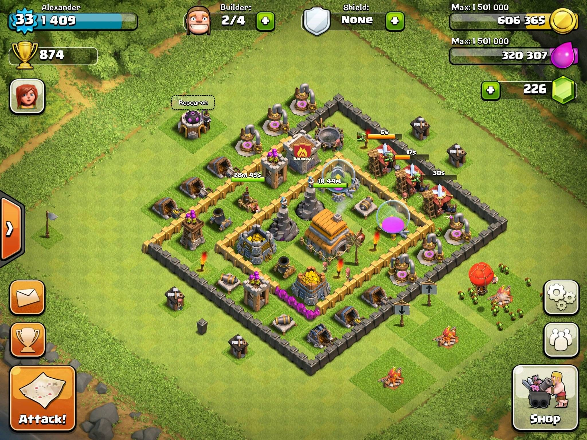 clash of clans level 6 town hall defense | Thread: Town ...