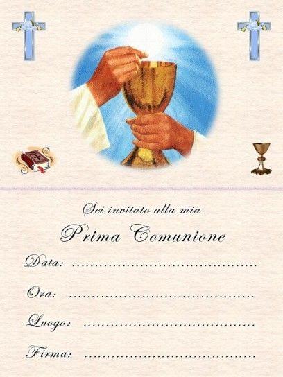 Inviti Da Stampare Gratis Cerca Con Google Prima Comunione Comunione Inviti