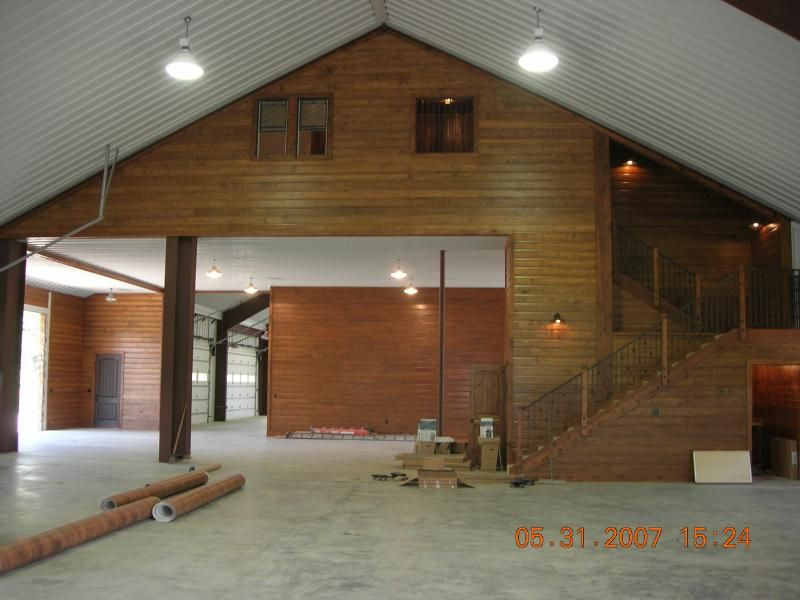 Cross creek construction design picture gallery for Barndominium plans with loft