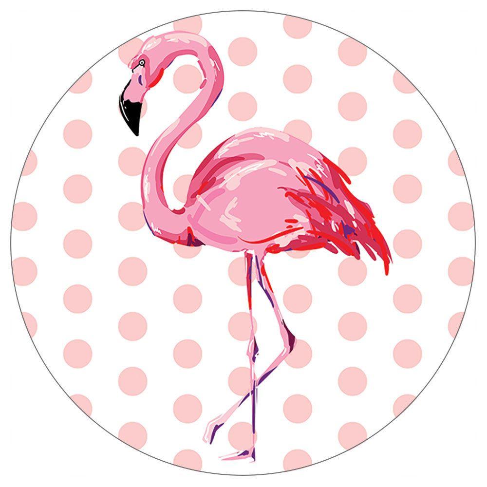 TropicalBreezeDecor Pink Polka Dot Flamingo Stone Car