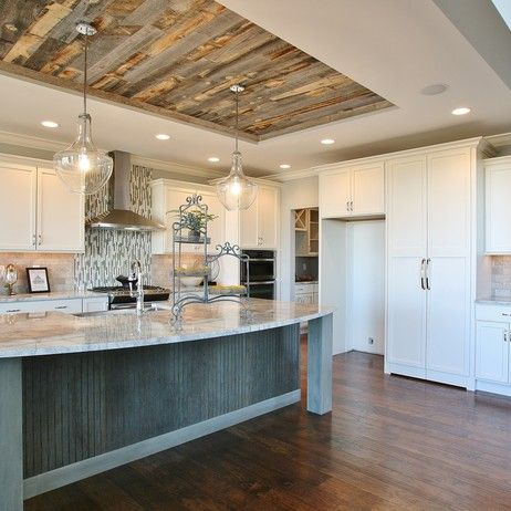Reclaimed Weathered Wood By Stikwood Reclaimed Wood Kitchen Kitchen Ceiling Home