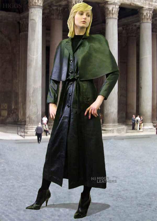 Higgs Leathers Cape Coat (Higgs Original style ladies leather ...
