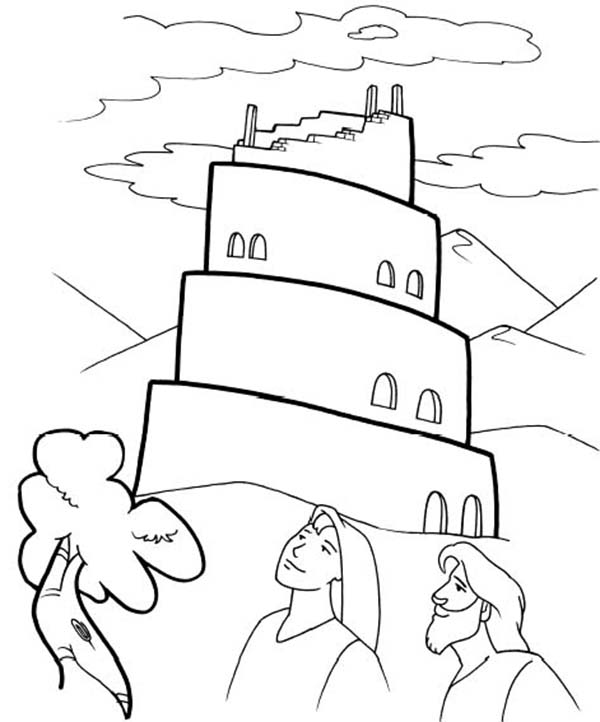 Tower Of Babel Coloring Page Kids Play Color In 2020 Bible Coloring Pages Bunny Coloring Pages Dinosaur Coloring Pages